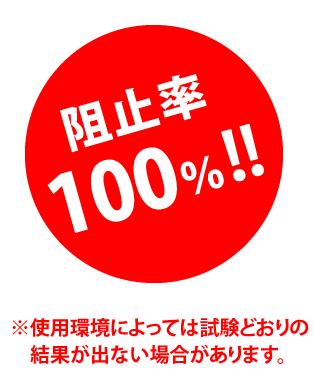 阻止率100%!!